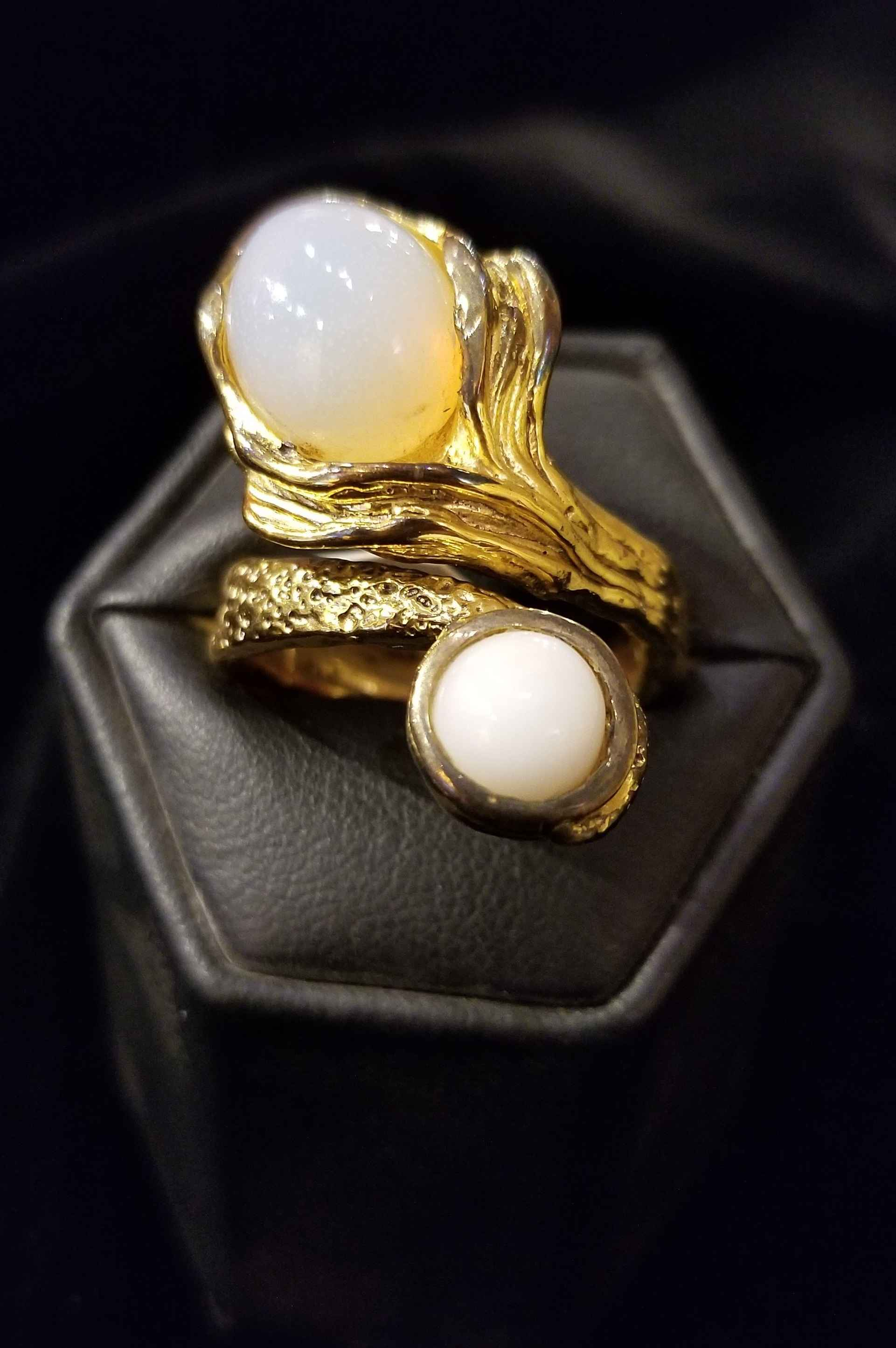 Ring - SS Gold Plated... by  Gallery Pieces - Masterpiece Online