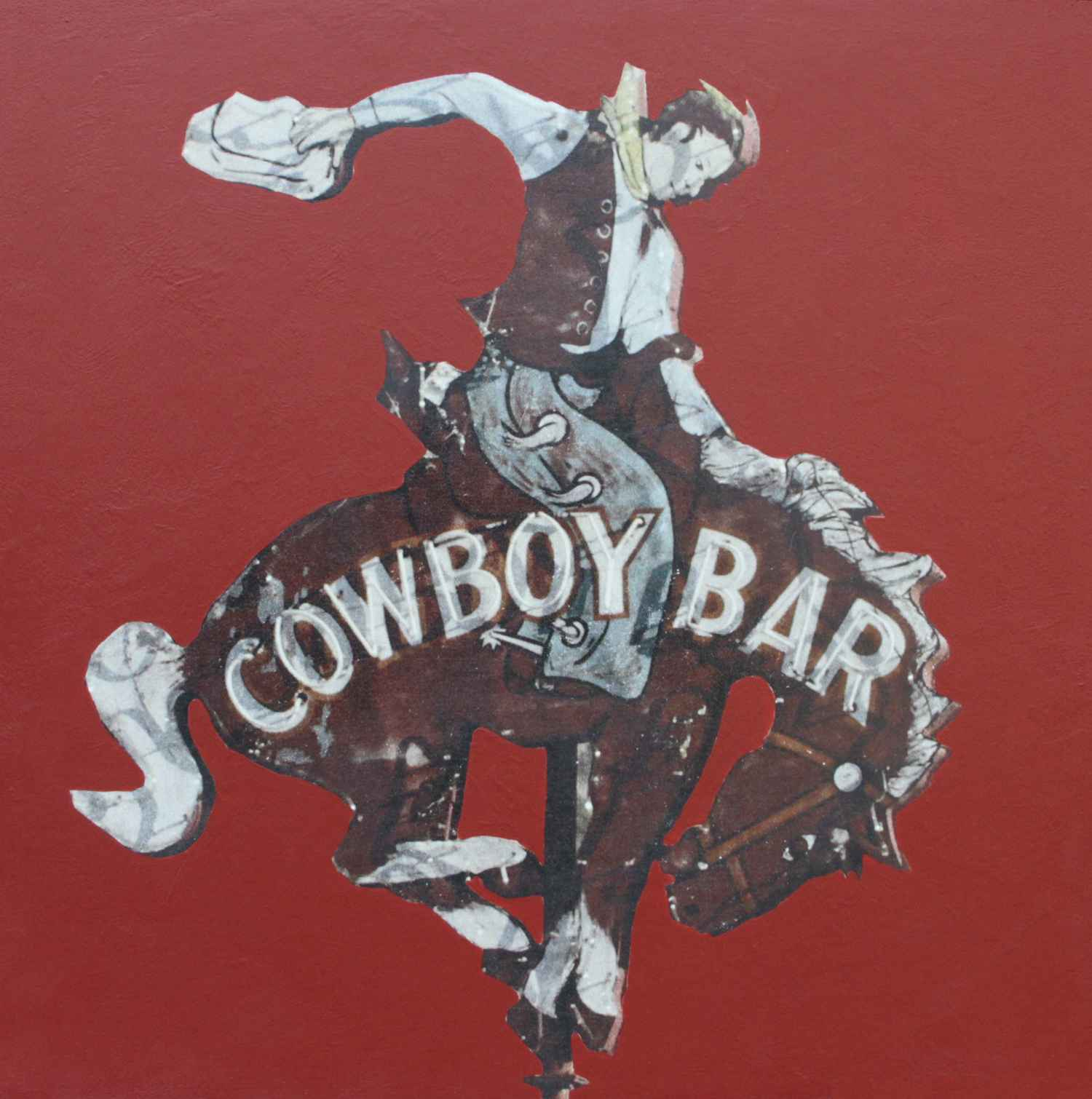 Cowboy Bar (Red Small)  by  Annie Hooker