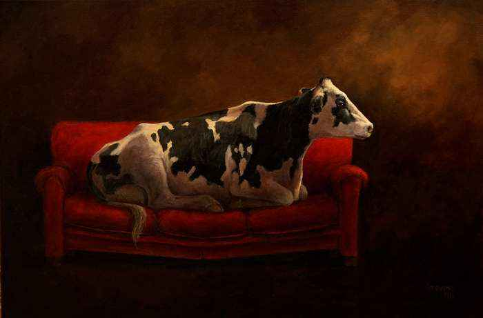 The Red Sofa` by Ms Sandra Stevens - Masterpiece Online