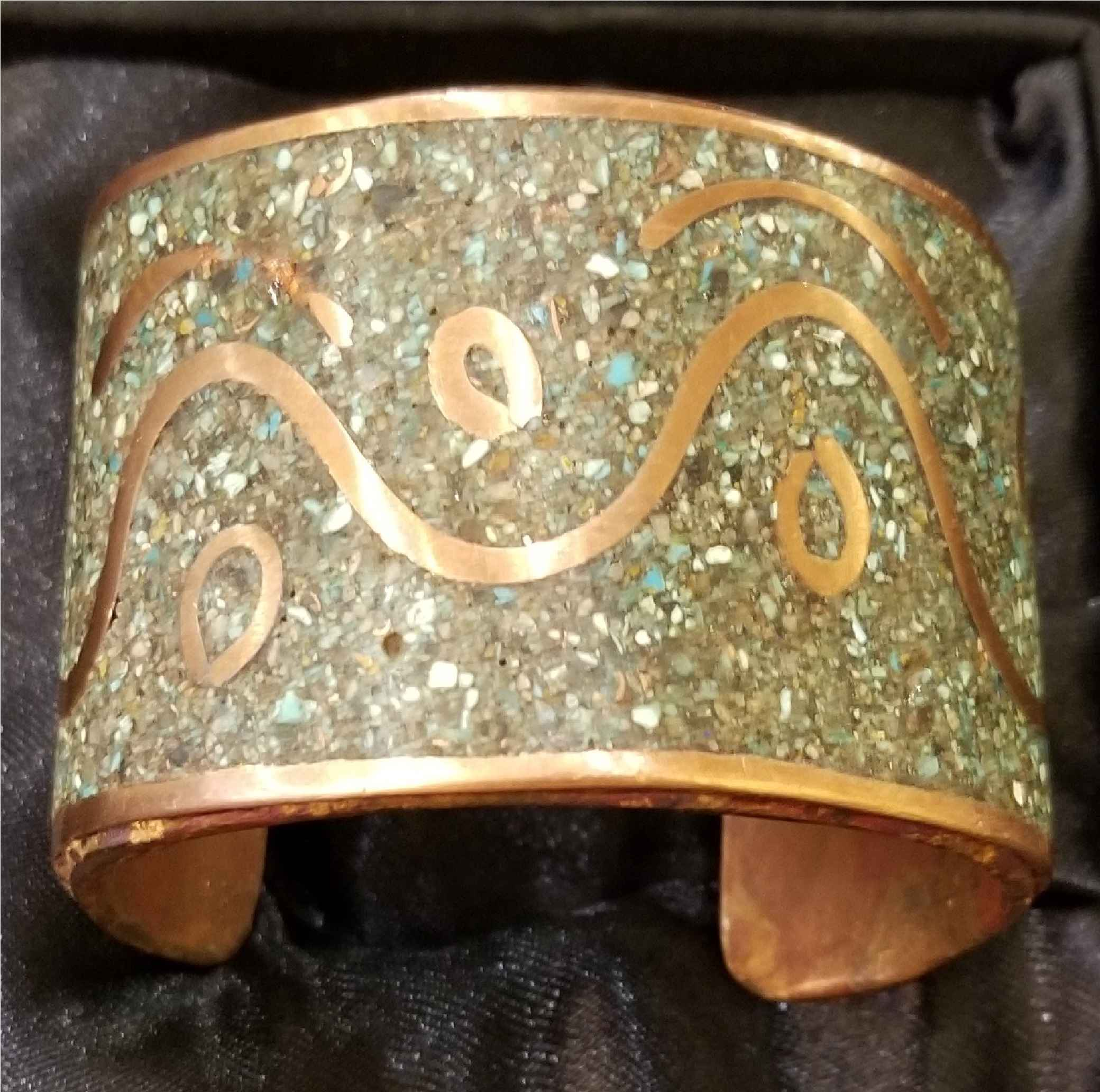 Cuff - Turquoise Chip...  by  Aziah Poimandres - Masterpiece Online