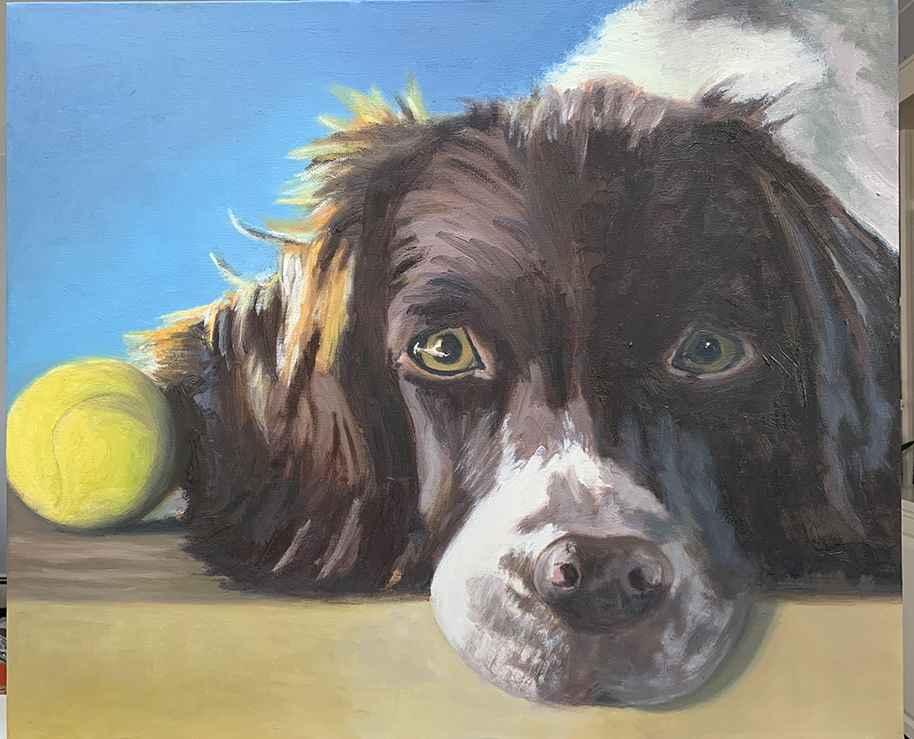 Tennis Ball  by  Kathleen Weinstock