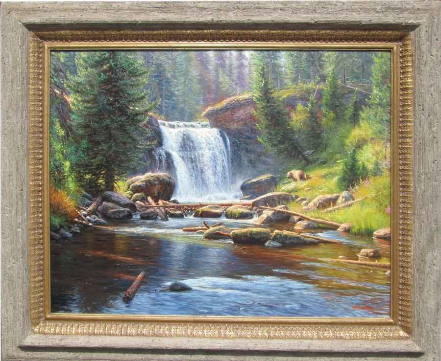 Morning At Moose Falls by  Mark Keathley - Masterpiece Online