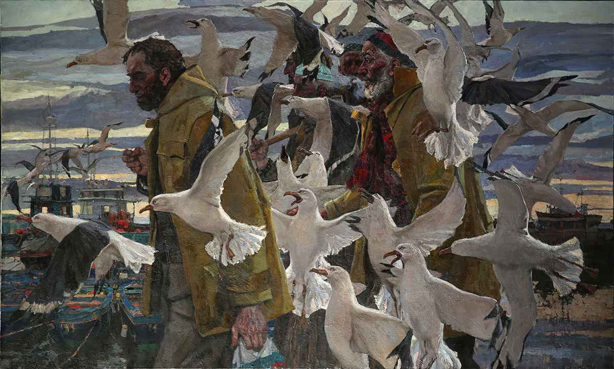 End of the Working Day by  Daud Akhriev - Masterpiece Online