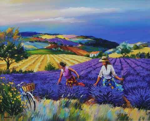 Lavender Field by  Christian Jequel  - Masterpiece Online