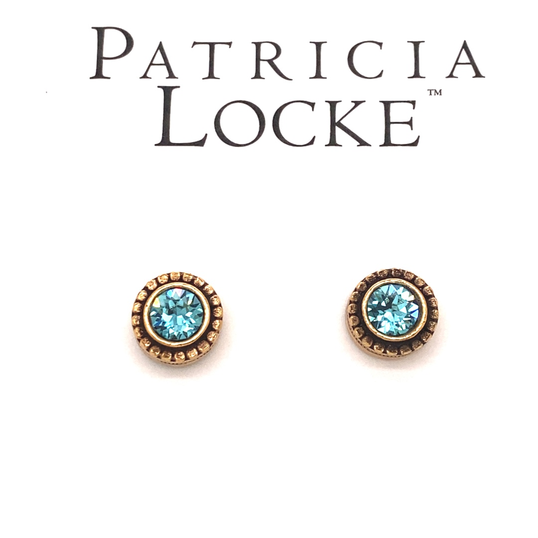 Indie Earrings in Gold, Light Turquoise