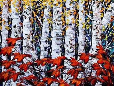 Night Birch 183293 by  Maya Eventov - Masterpiece Online
