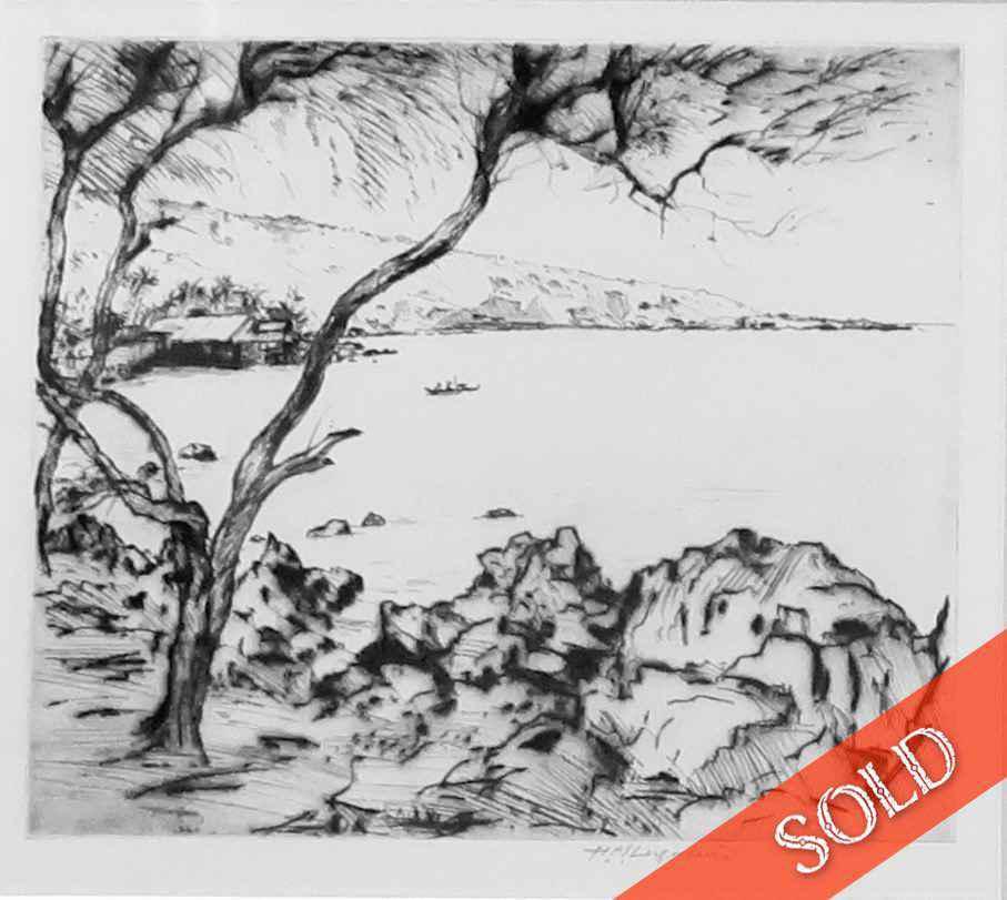 Kealakekua Bay by  Huc-Mazelet Luquiens (1881-1961) - Masterpiece Online