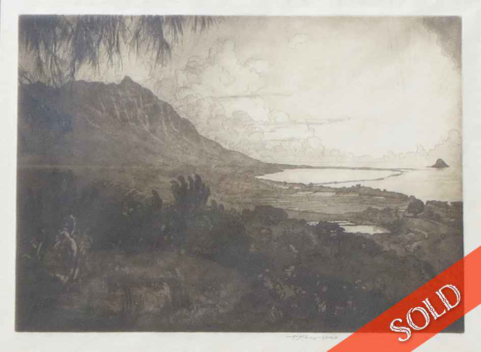 Morning at Kualoa by  Huc-Mazelet Luquiens (1881-1961) - Masterpiece Online