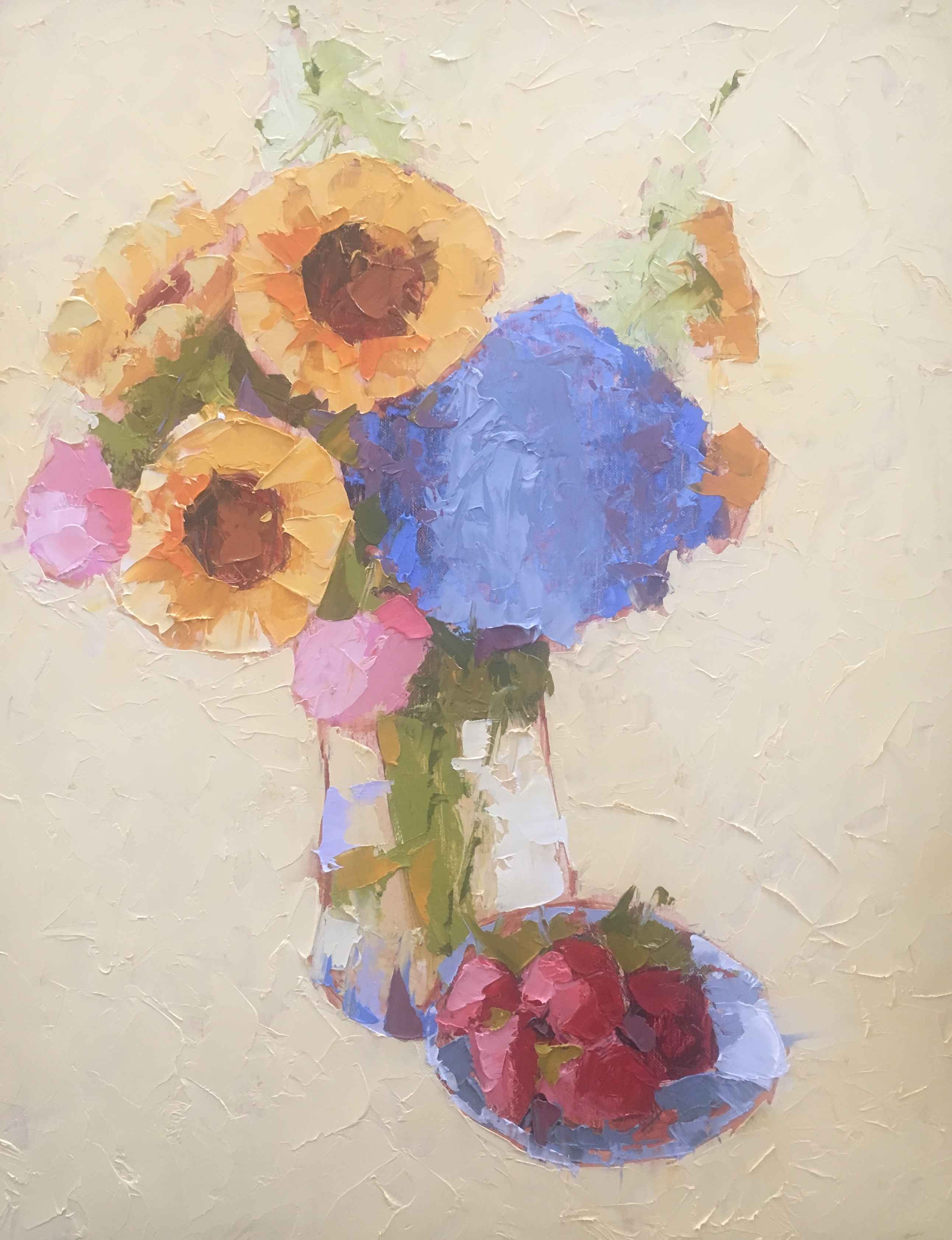 Sunflowers & Strawber... by  Carol Maguire - Masterpiece Online