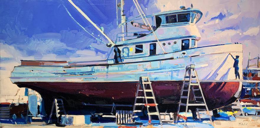 Dry Dock Boat by Mr. Santiago Michalek - Masterpiece Online