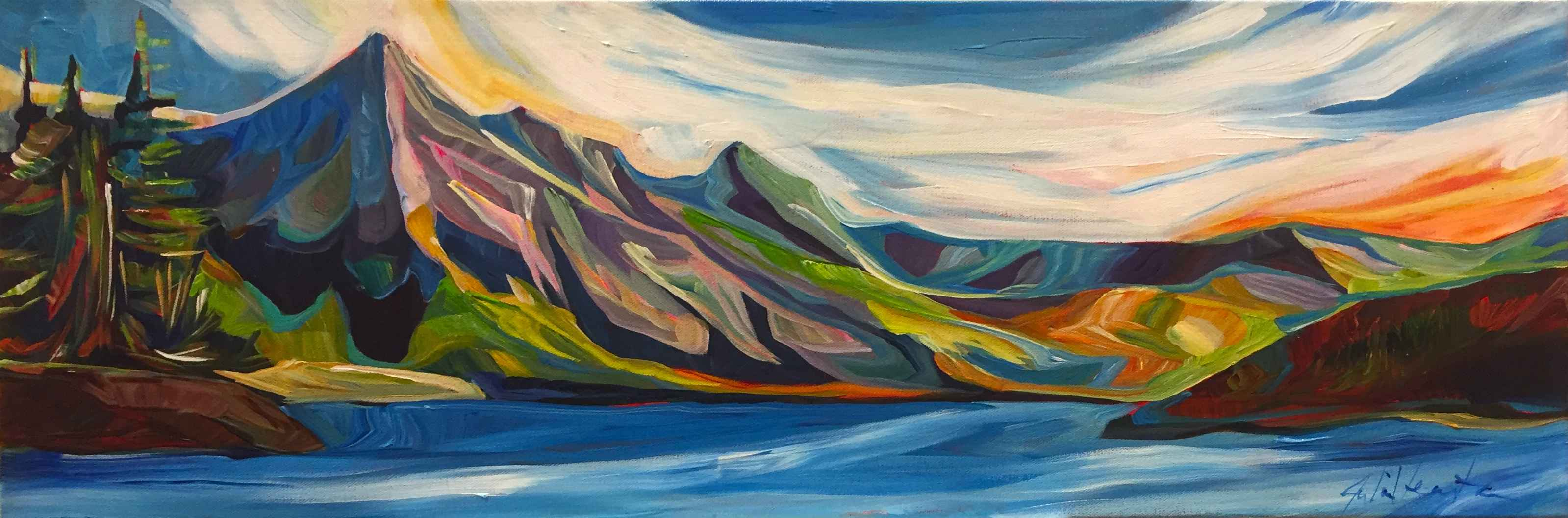 Mountain Sunset by  Julia Veenstra - Masterpiece Online