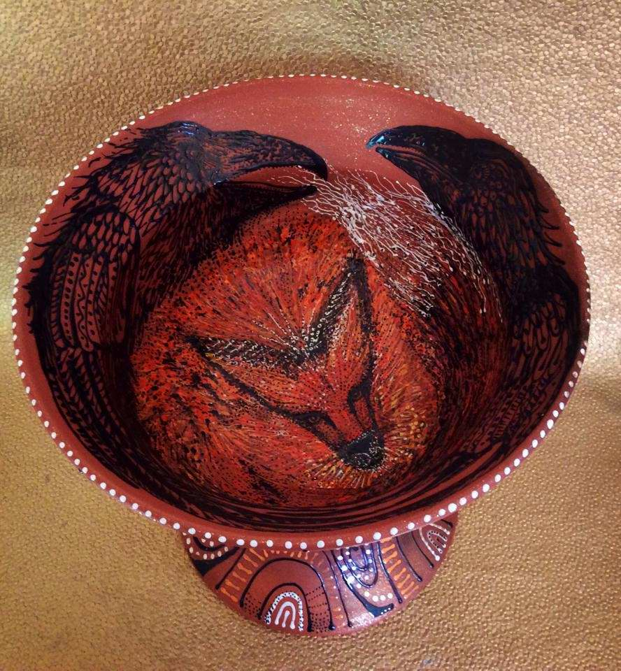 Raven and Fox Chalice by  Patty Mara Gourley - Masterpiece Online