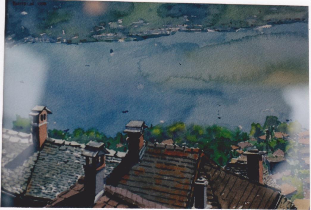 Ticino Rooftops by  Melissa Hefferlin - Masterpiece Online