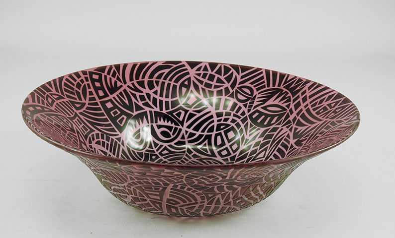 Sandblasted Bowl/Blac... by  David Wilson - Masterpiece Online