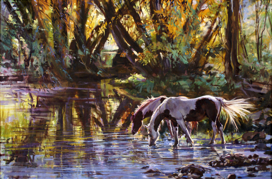 SOLD- Shaded Pool by  Barbara Summers Edwards - Masterpiece Online