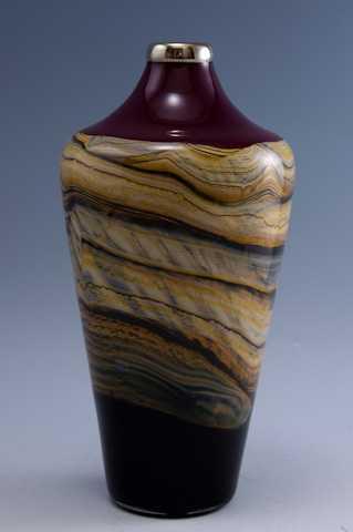 Ruby Small Closed Urn by  Danielle Blade/Stephen Gartner - Masterpiece Online