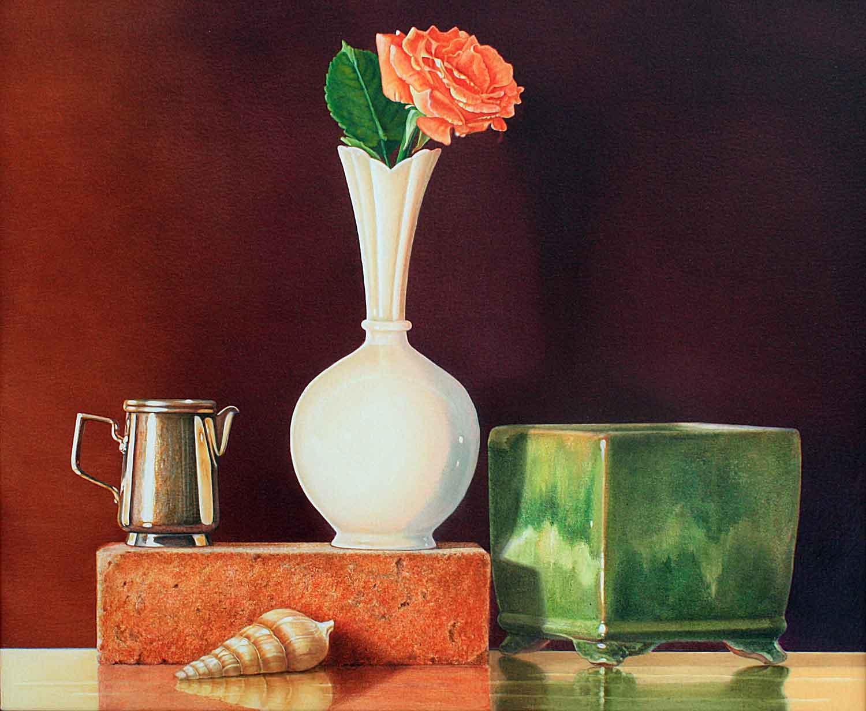 White Vase  by Ms. Judy Nunes