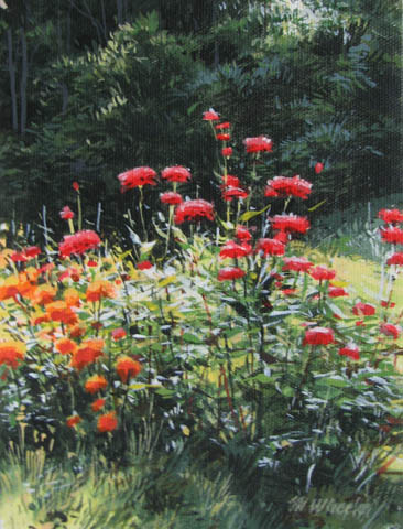 Late Summer Blooms by  Michael Wheeler - Masterpiece Online