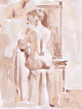 Figure Sketch: 5 by  Melissa Hefferlin - Masterpiece Online