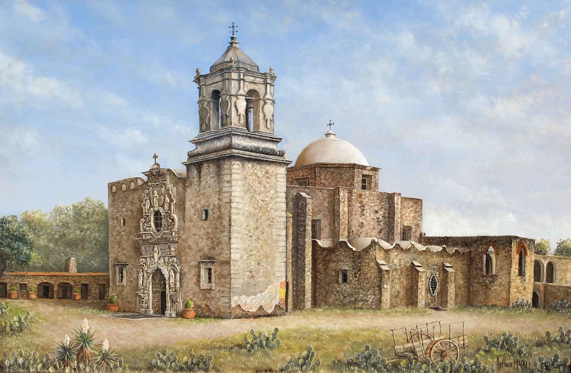 Mission San Jose by  Arthur McCall - Masterpiece Online