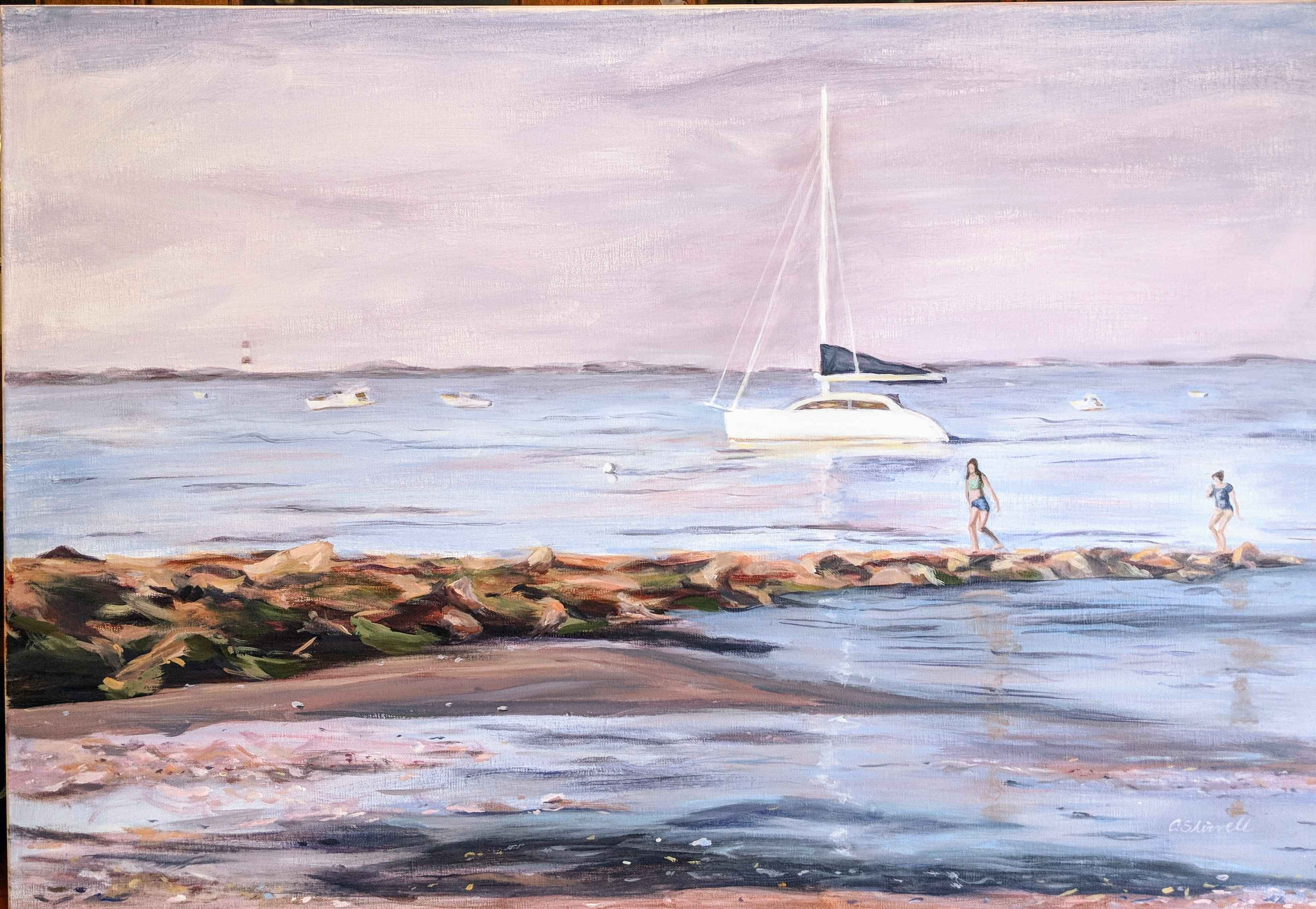 Evening on the Jetty  by  Clarice Shirvell