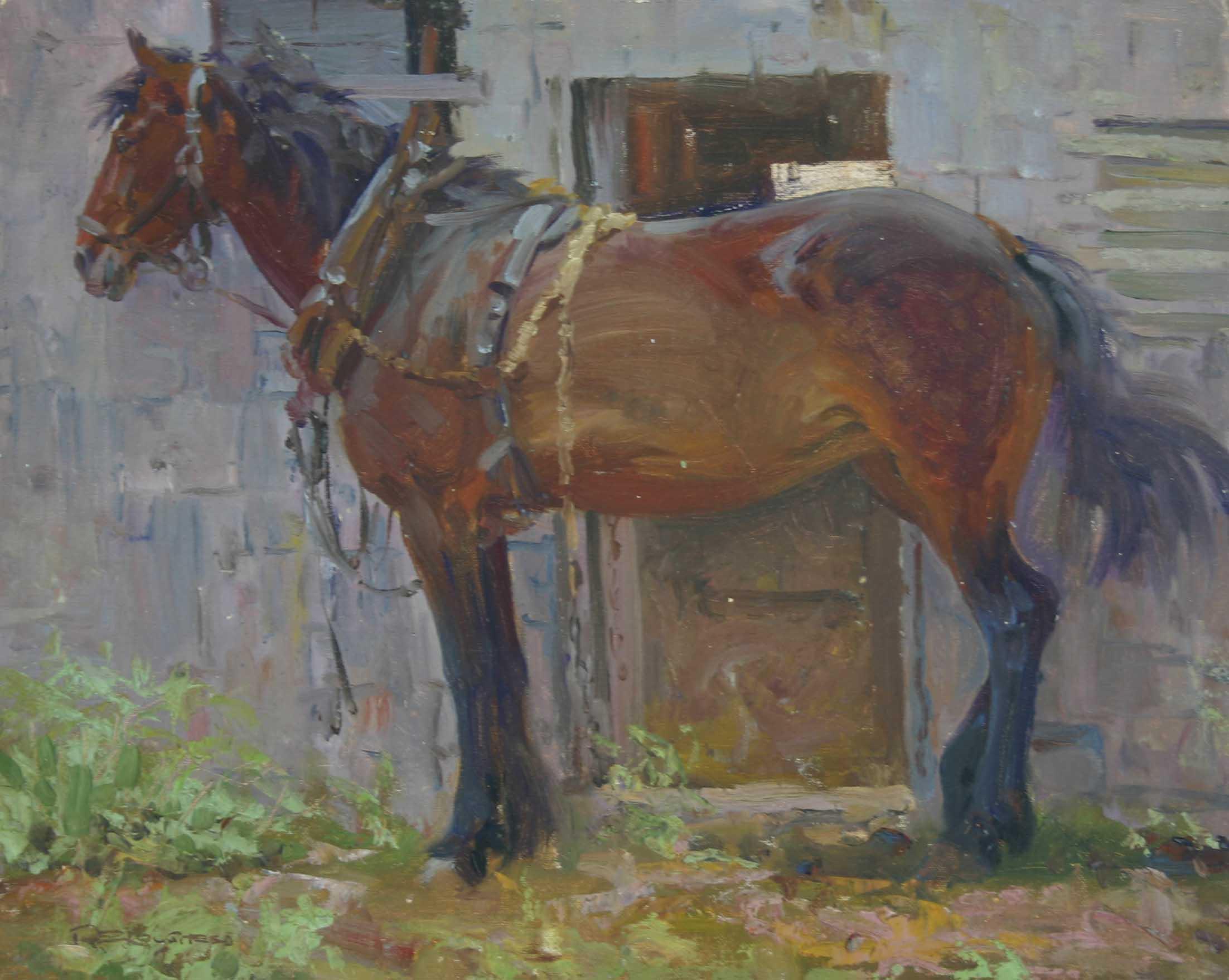 Bay Work Horse by  Robert Lougheed - Masterpiece Online