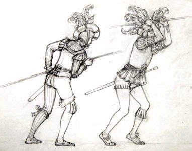 Two Men With Poles
