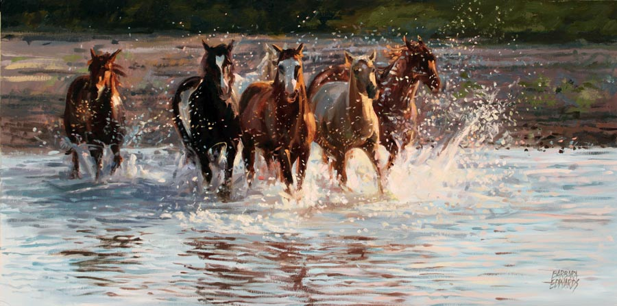 A NEW WORK- River Sh... by  Barbara Summers Edwards - Masterpiece Online