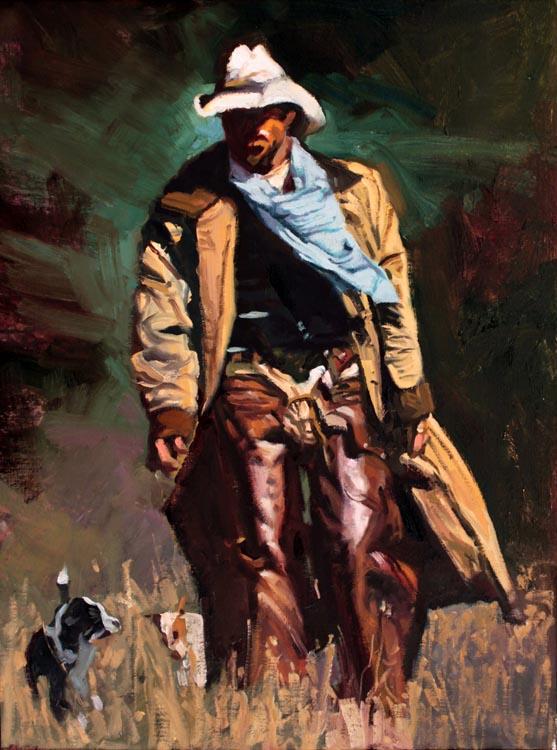 SOLD- Working Cowboy by  Glen Edwards - Masterpiece Online