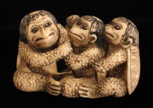 Three Kappas by   Netsuke - Masterpiece Online