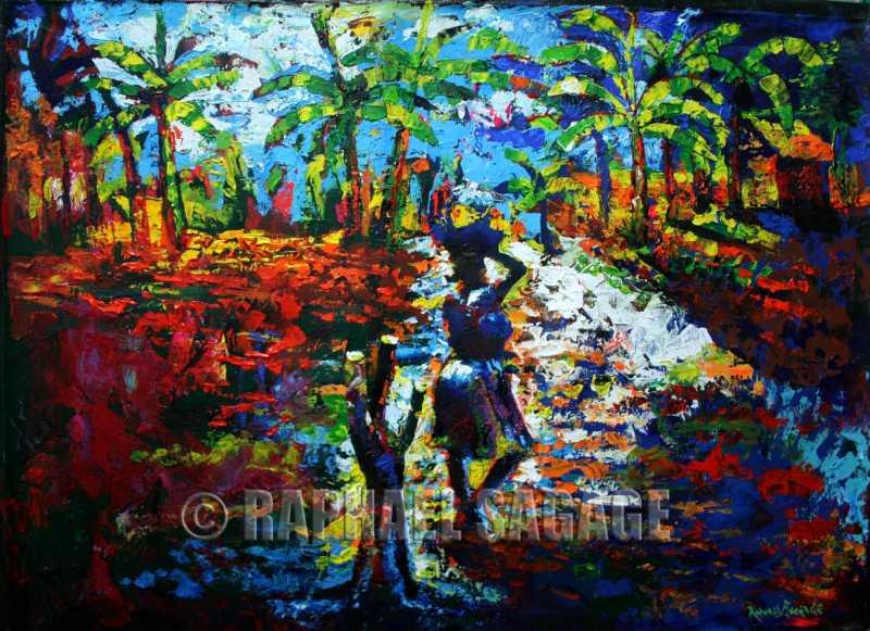 Vendor Returning Home by Mr Raphael Sagage - Masterpiece Online