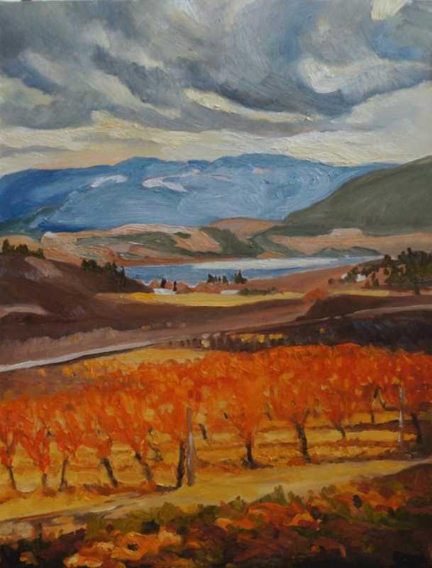 Valley Vineyard by  Dawn Banning - Masterpiece Online