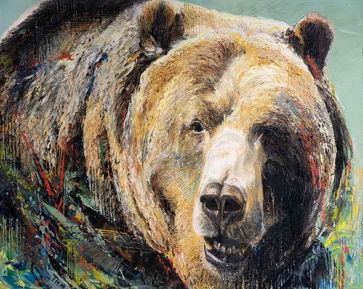 Gunsight Lake Grizzly by  Thomas McCafferty - Masterpiece Online