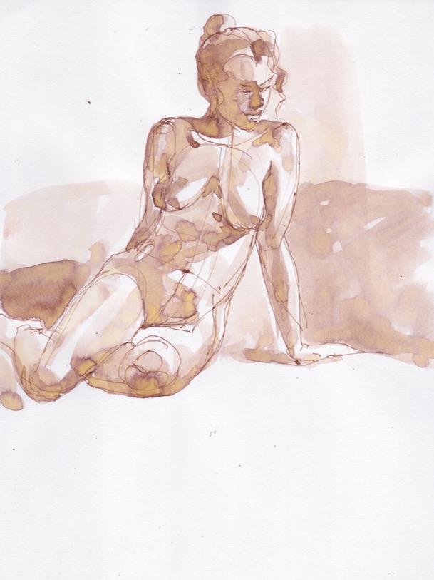 Figure Sketch: 15 by  Melissa Hefferlin - Masterpiece Online