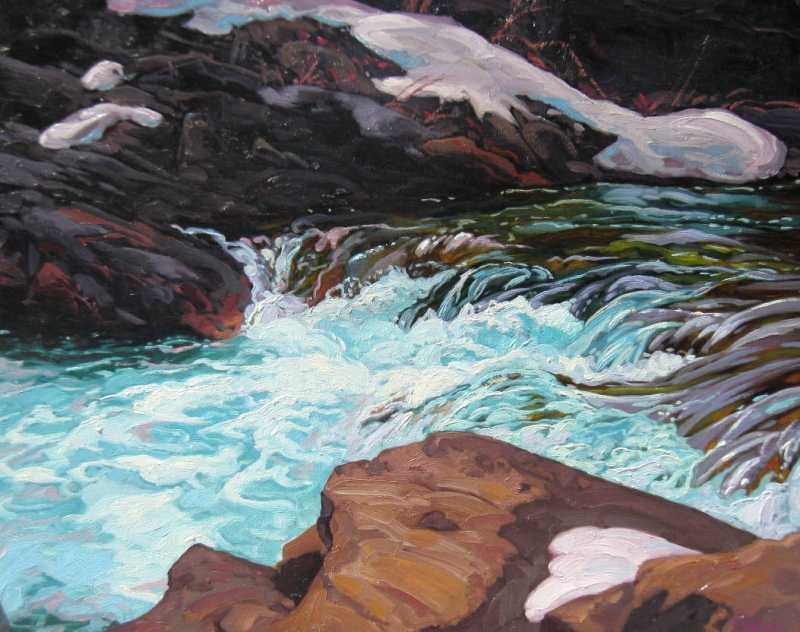 Sheep River Rapids by  Dominik Modlinski - Masterpiece Online