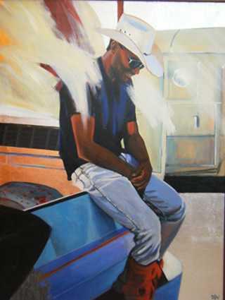 Red Knee Brace Origin... by  David DeVary - Masterpiece Online