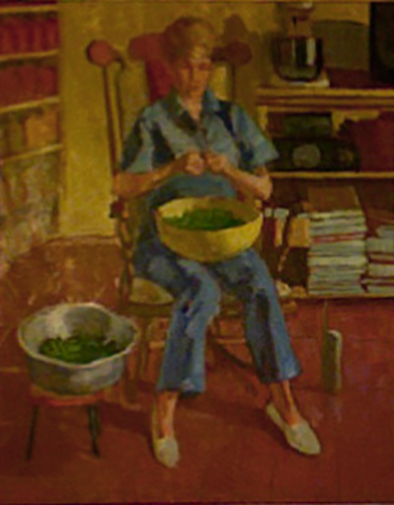 Snapping Peas by  Melissa Hefferlin - Masterpiece Online