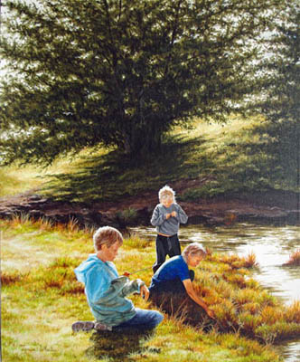 A Day at the Creek by   Teresa  Wheeler - Masterpiece Online