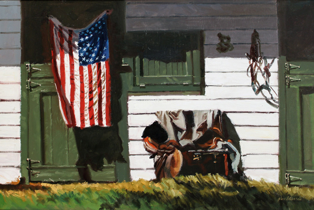 SOLD- Red White and ... by  Glen Edwards - Masterpiece Online
