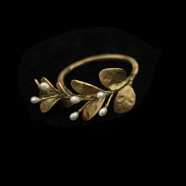 Boxwood Napkin Rings, Gold