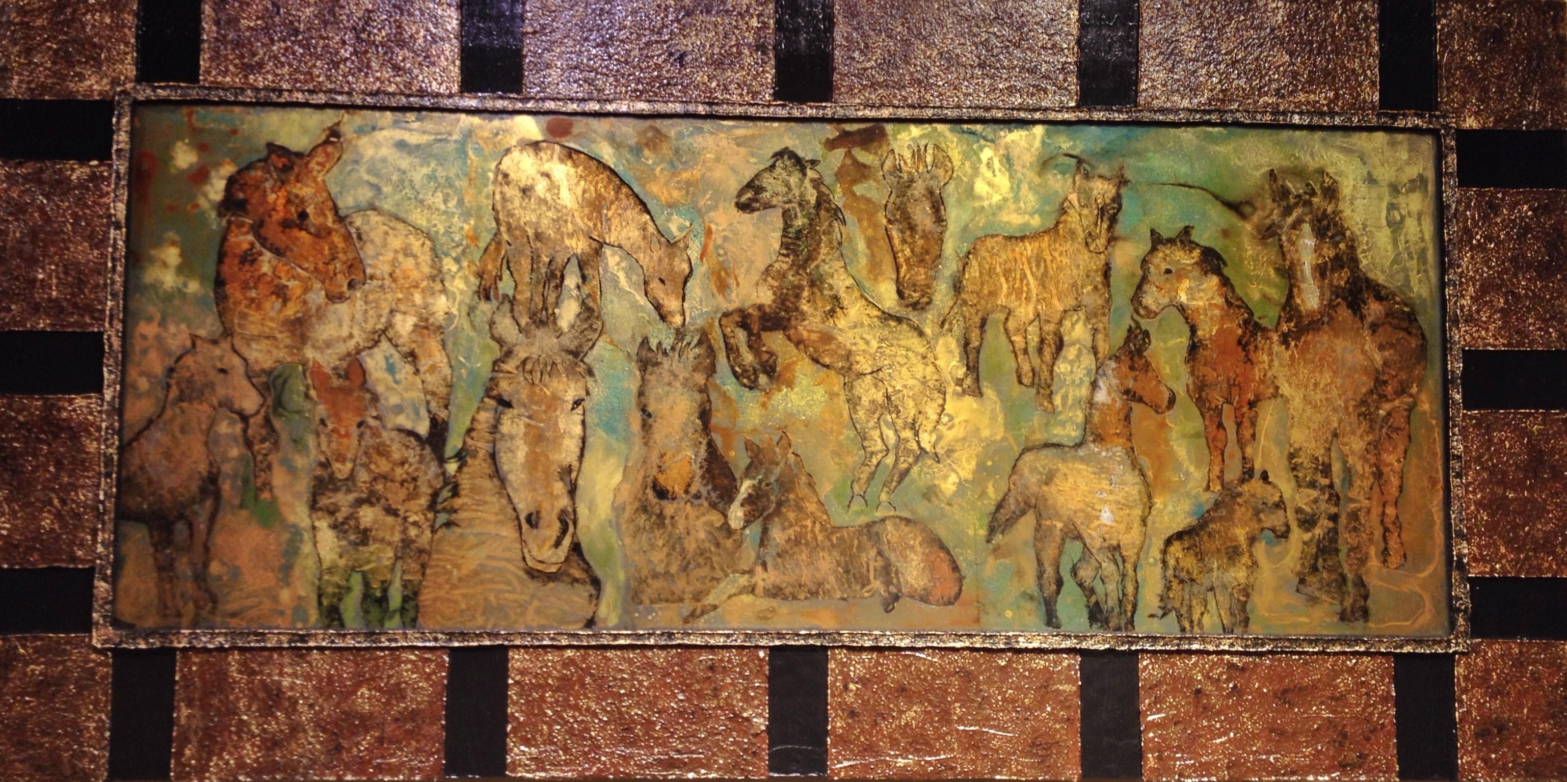 Caballos II by  Karyl Bennett - Masterpiece Online
