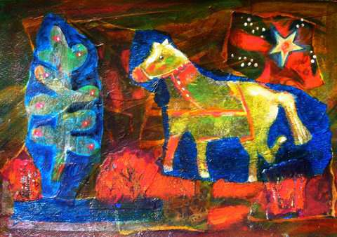 Horse on His Way to H... by Mrs Fran Patterson - Masterpiece Online