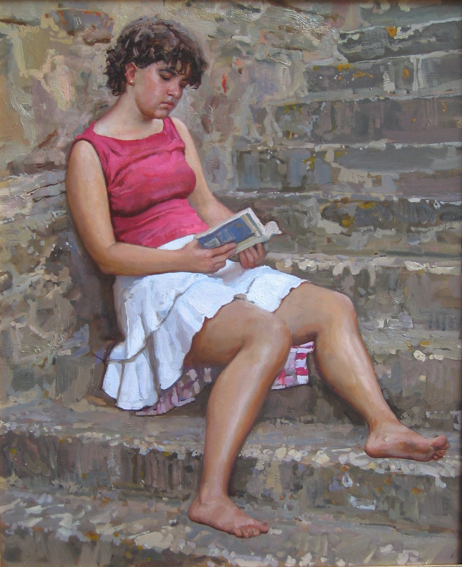 A Good Book (Kate) by  Daud Akhriev - Masterpiece Online
