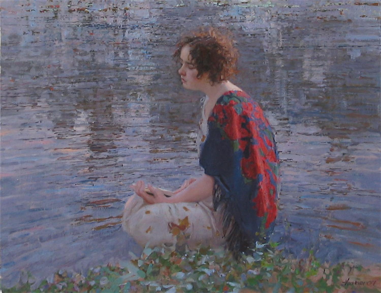 Evening Reading by  Daud Akhriev - Masterpiece Online