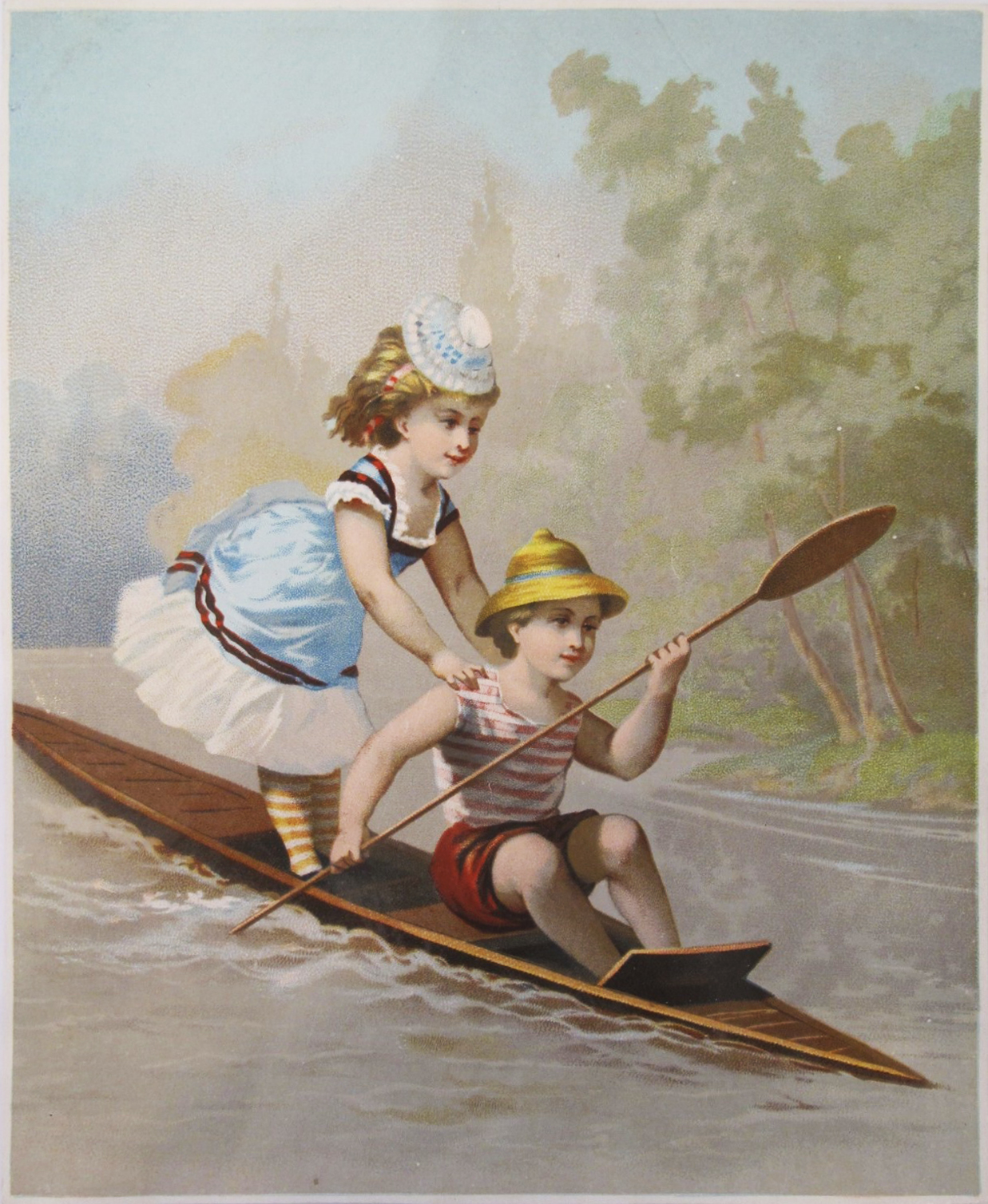 Young Couple on a Boa... by  Anonymous  - Masterpiece Online