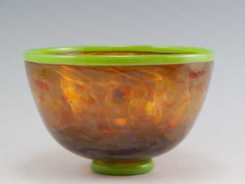 Bowl/Sm Safari Green ... by  David & Melanie Leppla - Masterpiece Online
