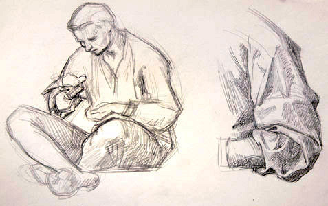 Man Sitting And Elbow  by  Andren And Olga Dugin
