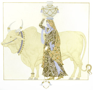 Woman And Bull