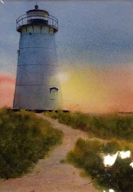 5:30AM Edgartown Light by  Nancy Motley Walton - Masterpiece Online
