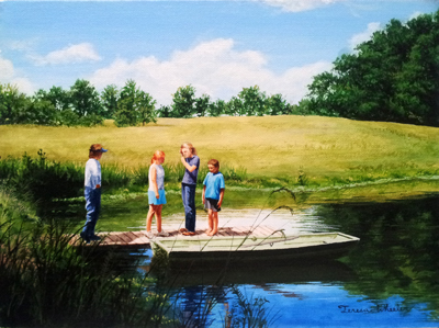 Planning the Boat Ride by   Teresa  Wheeler - Masterpiece Online